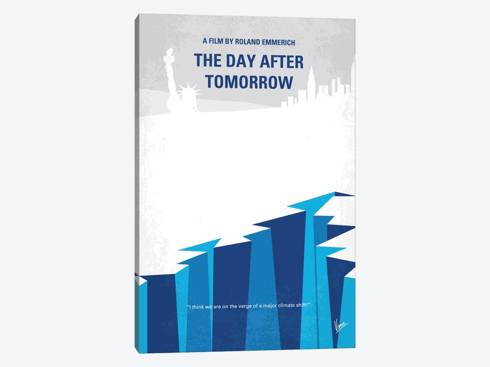 The Day After Tomorrow Minimal Movie Poster by Chungkong 1-piece Canvas Wall Art