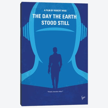 The Day The Earth Stood Still Minimal Movie Poster Canvas Print #CKG644} by Chungkong Canvas Art