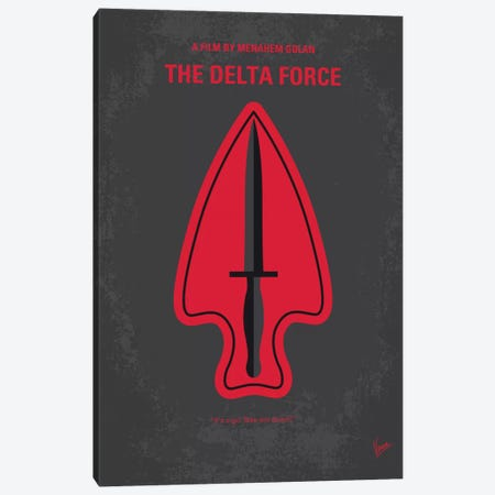 The Delta Force Minimal Movie Poster Canvas Print #CKG645} by Chungkong Canvas Art