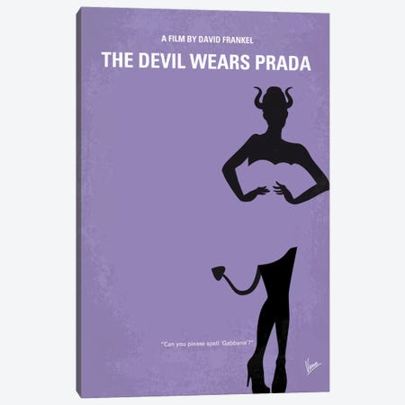 The Devil Wears Prada Minimal Movie Poster Canvas Print #CKG646} by Chungkong Canvas Art
