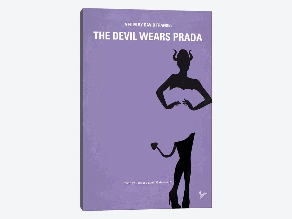 The Devil Wears Prada Minimal Movie Poster by Chungkong 1-piece Art Print