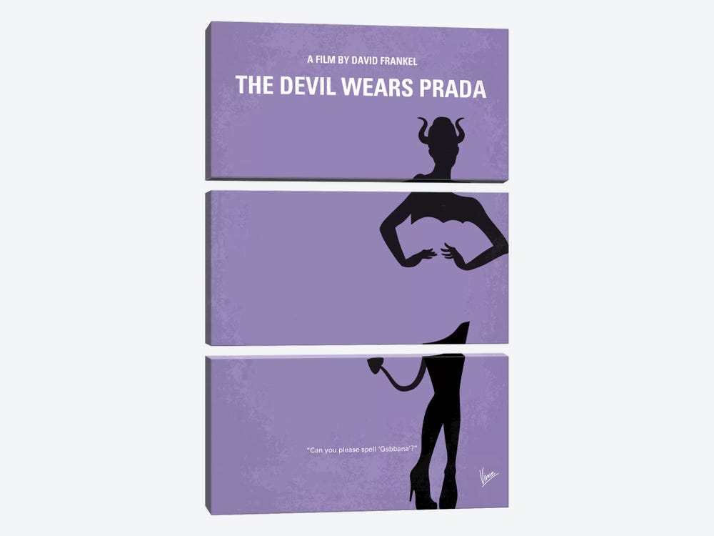 The Devil Wears Prada Minimal Movie Poster by Chungkong 3-piece Canvas Print