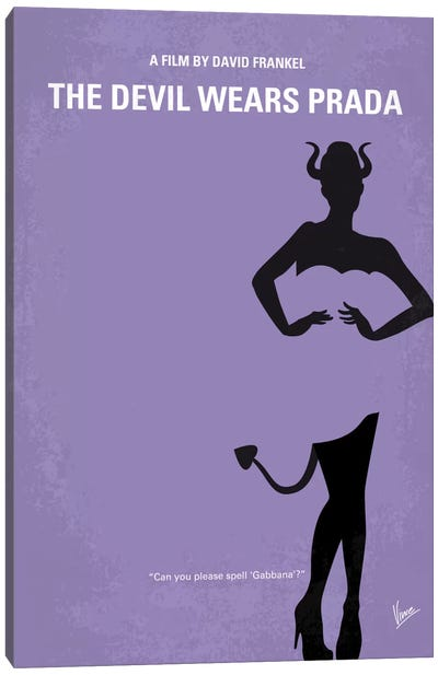 The Devil Wears Prada Minimal Movie Poster Canvas Art Print