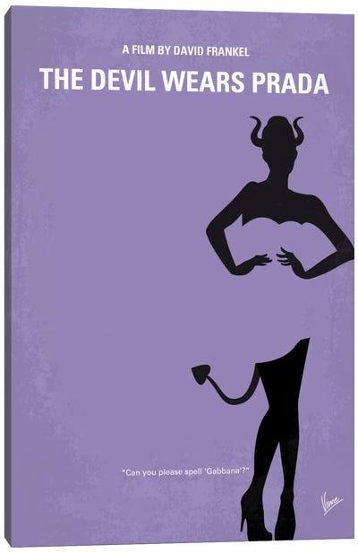 The Devil Wears Prada Minimal Movie Poster Canvas Art Print