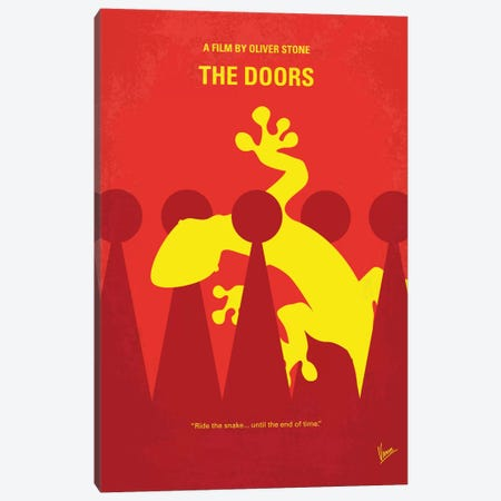 The Doors Minimal Movie Poster Canvas Print #CKG647} by Chungkong Canvas Artwork