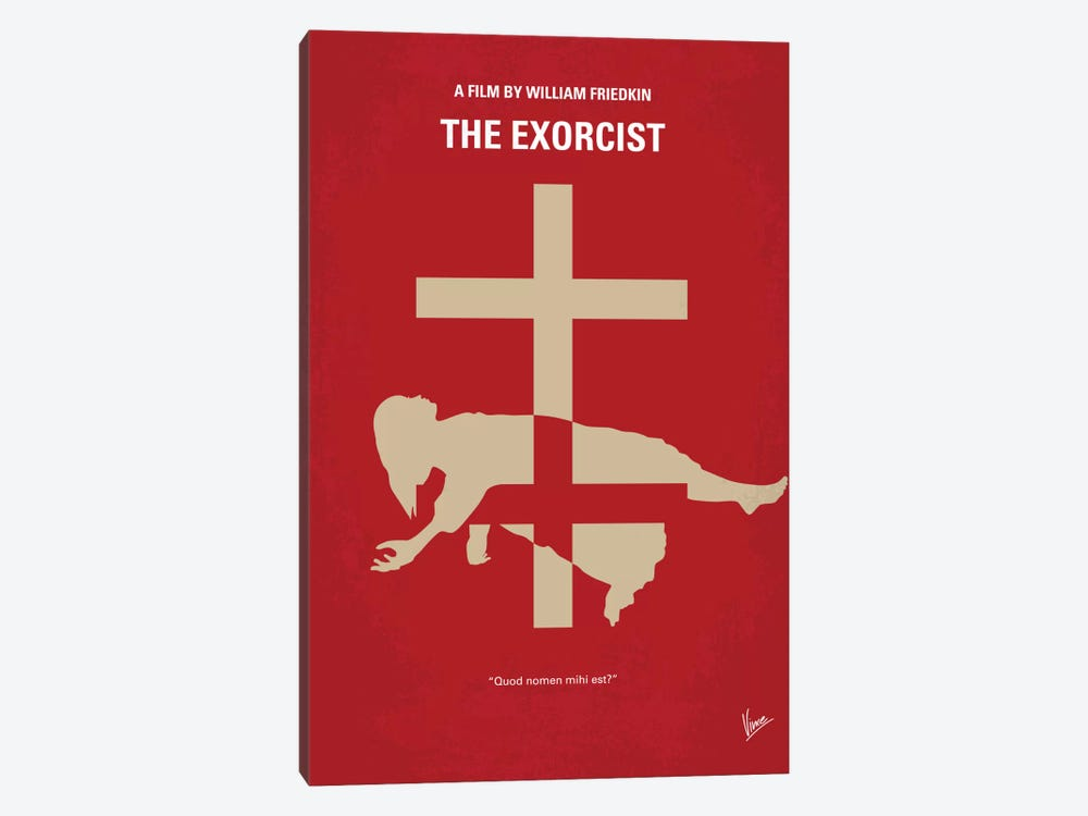The Exorcist Minimal Movie Poster by Chungkong 1-piece Canvas Art Print