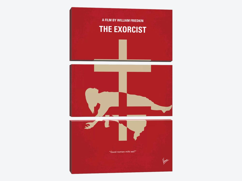 The Exorcist Minimal Movie Poster by Chungkong 3-piece Canvas Art Print