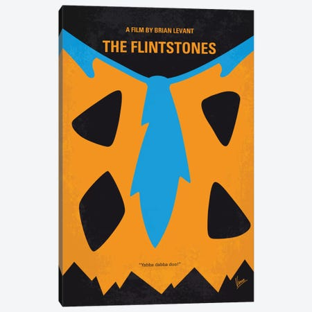 The Flintstones Minimal Movie Poster Canvas Print #CKG649} by Chungkong Canvas Art Print