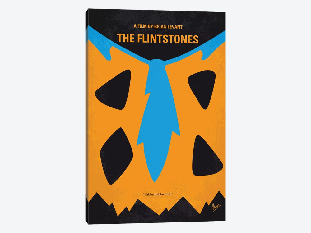 The Flintstones Minimal Movie Poster by Chungkong 1-piece Canvas Wall Art