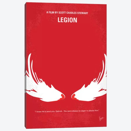 Legion Minimal Movie Poster Canvas Print #CKG64} by Chungkong Canvas Wall Art
