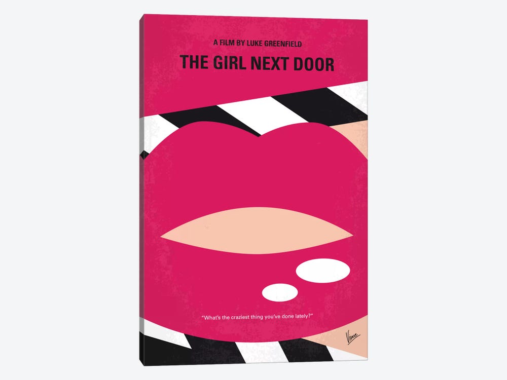 The Girl Next Door Minimal Movie Poster by Chungkong 1-piece Canvas Art