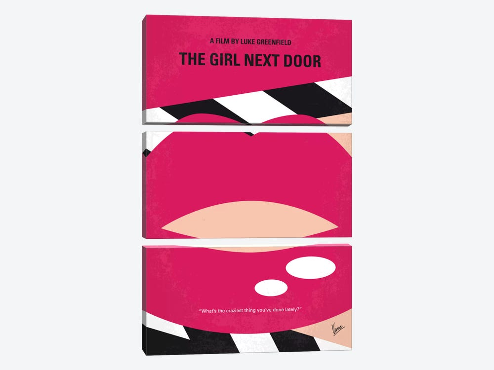 The Girl Next Door Minimal Movie Poster by Chungkong 3-piece Canvas Artwork