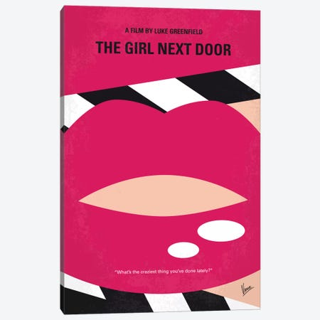 The Girl Next Door Minimal Movie Poster Canvas Print #CKG650} by Chungkong Canvas Art