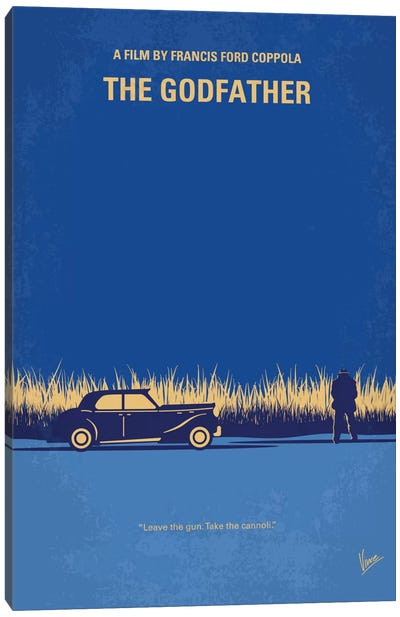 The Godfather Minimal Movie Poster Canvas Print #CKG651