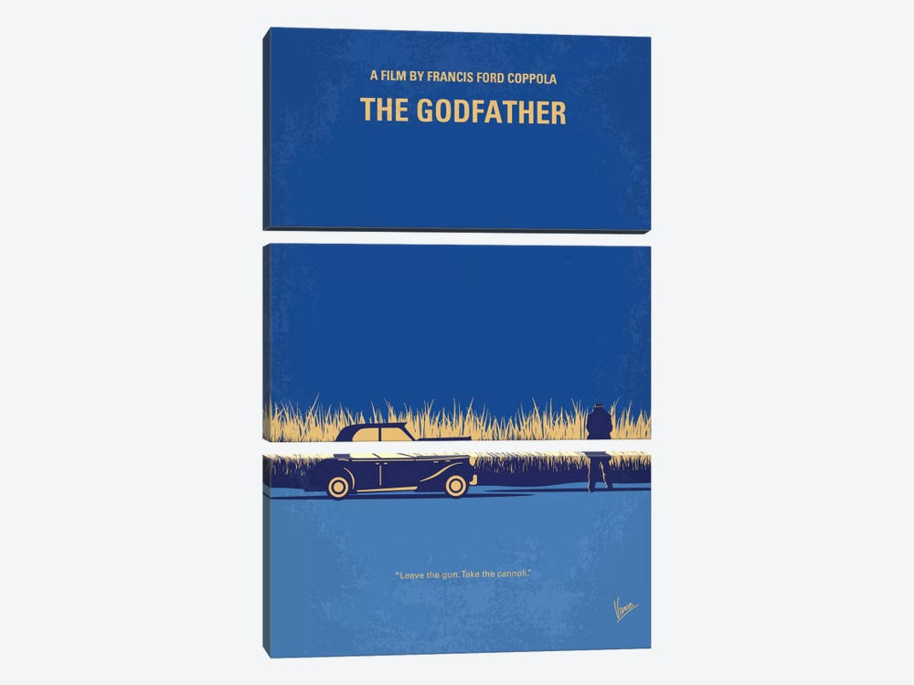 The Godfather Minimal Movie Poster by Chungkong 3-piece Canvas Art Print