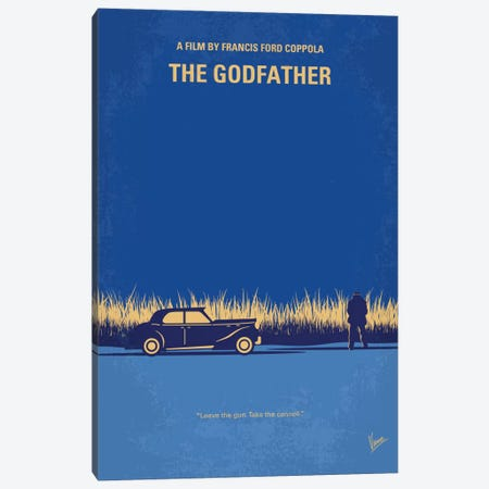 The Godfather Minimal Movie Poster Canvas Print #CKG651} by Chungkong Canvas Artwork