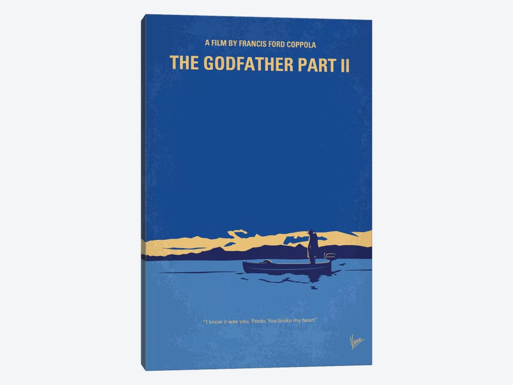 The Godfather: Part II Minimal Movie Poster by Chungkong 1-piece Canvas Artwork