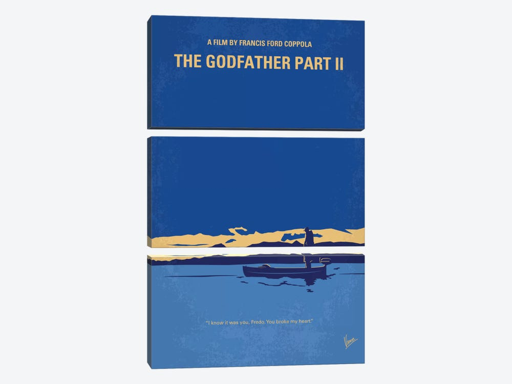 The Godfather: Part II Minimal Movie Poster by Chungkong 3-piece Canvas Art