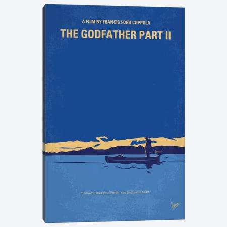 The Godfather: Part II Minimal Movie Poster Canvas Print #CKG652} by Chungkong Canvas Art