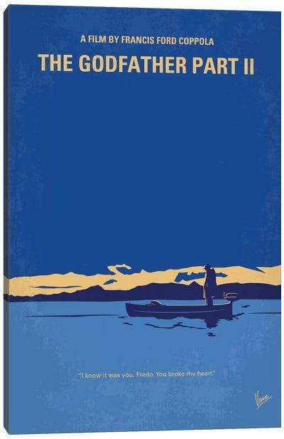 The Godfather: Part II Minimal Movie Poster Canvas Art Print