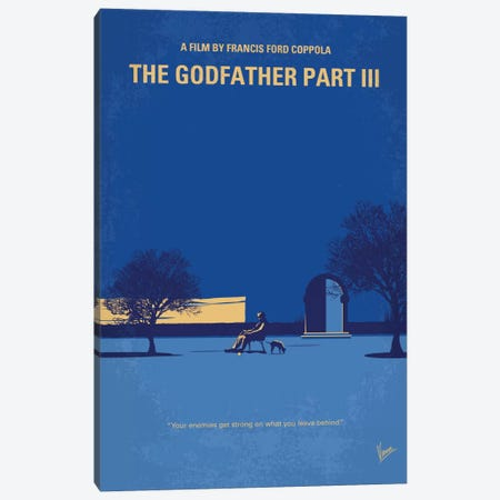 The Godfather: Part III Minimal Movie Poster Canvas Print #CKG653} by Chungkong Canvas Artwork