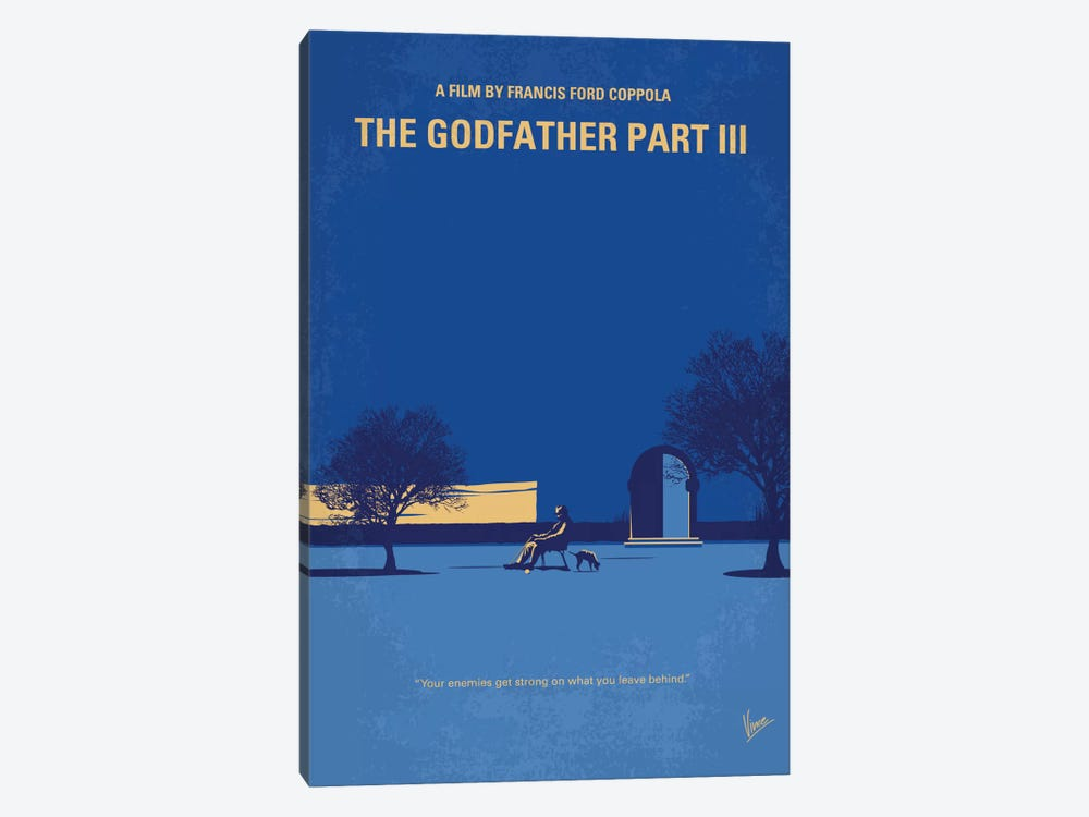 The Godfather: Part III Minimal Movie Poster by Chungkong 1-piece Canvas Print