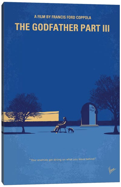 The Godfather: Part III Minimal Movie Poster Canvas Art Print