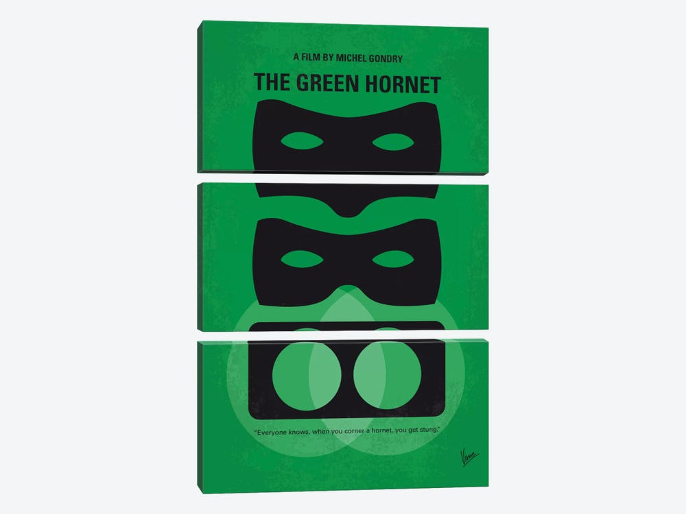 The Green Hornet Minimal Movie Poster by Chungkong 3-piece Canvas Artwork