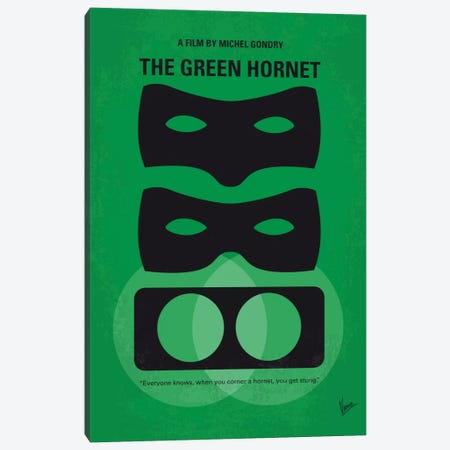 The Green Hornet Minimal Movie Poster 3-Piece Canvas #CKG654} by Chungkong Canvas Art Print
