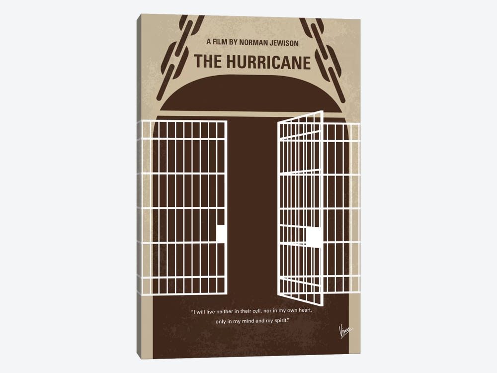 The Hurricane Minimal Movie Poster by Chungkong 1-piece Art Print