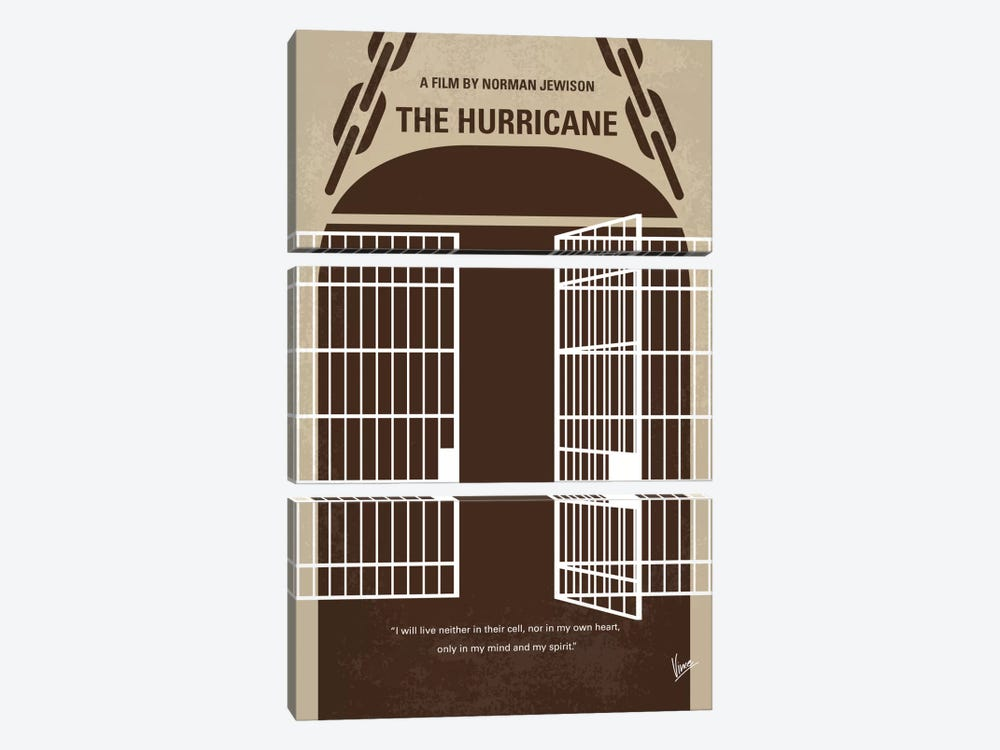 The Hurricane Minimal Movie Poster by Chungkong 3-piece Canvas Print