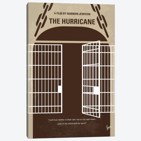 The Hurricane Minimal Movie Poster Canvas Print #CKG655} by Chungkong Art Print