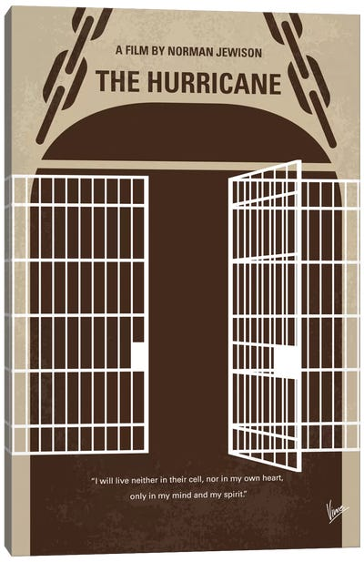 The Hurricane Minimal Movie Poster Canvas Art Print