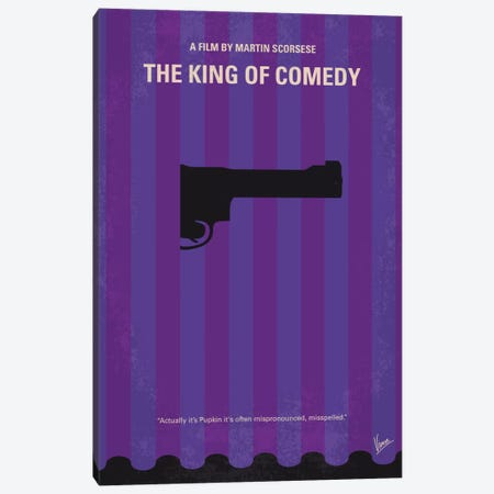 The King of Comedy Minimal Movie Poster Canvas Print #CKG657} by Chungkong Art Print