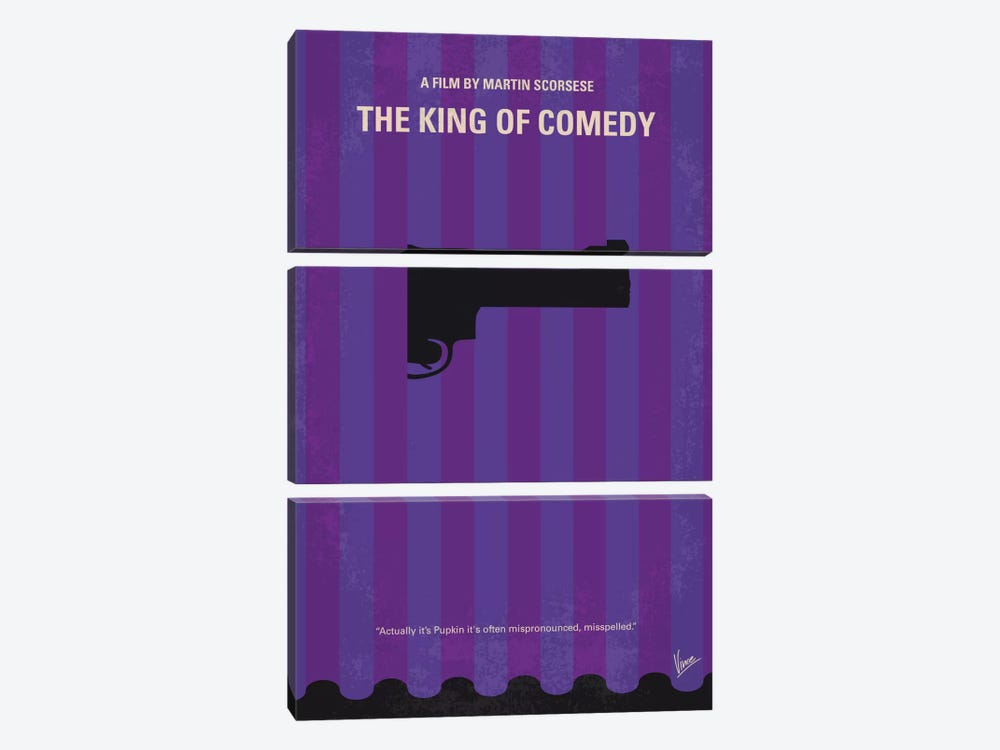 The King of Comedy Minimal Movie Poster by Chungkong 3-piece Canvas Art Print