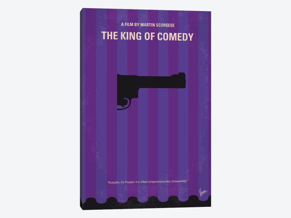 The King of Comedy Minimal Movie Poster by Chungkong 1-piece Canvas Print