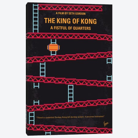 The King Of Kong: A Fistful Of Quarters Minimal Movie Poster Canvas Print #CKG658} by Chungkong Canvas Wall Art