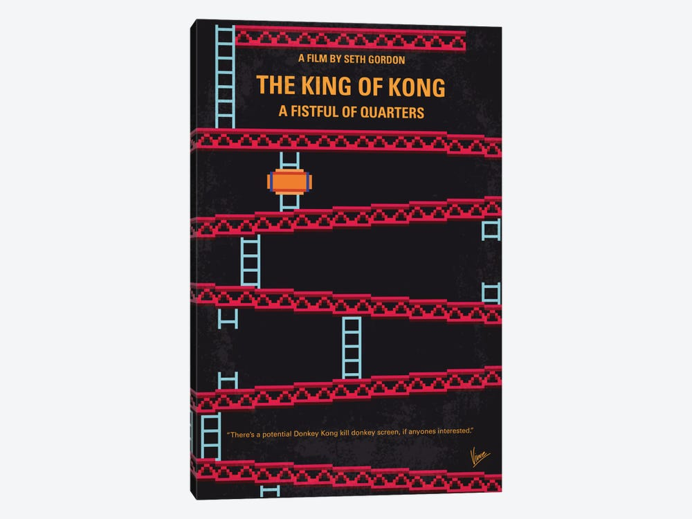 The King Of Kong: A Fistful Of Quarters Minimal Movie Poster by Chungkong 1-piece Canvas Art