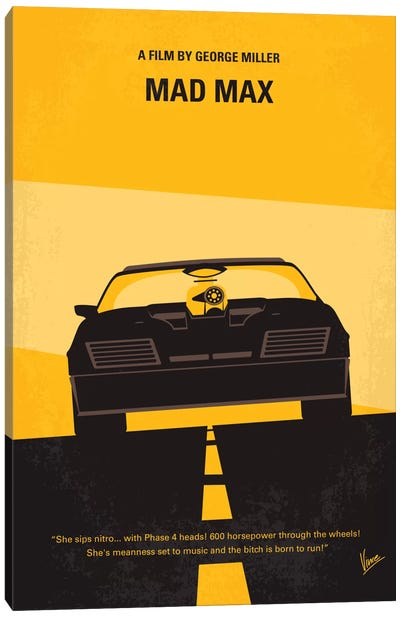 Mad Max Minimal Movie Poster Canvas Art Print