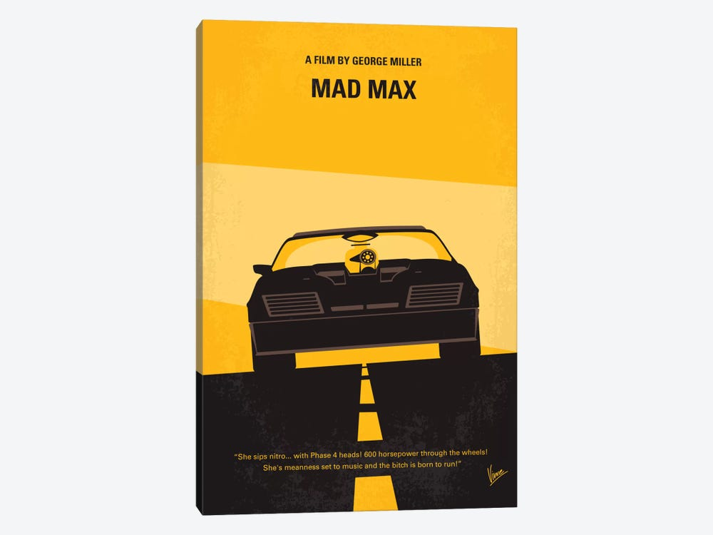 Mad Max Minimal Movie Poster by Chungkong 1-piece Canvas Artwork