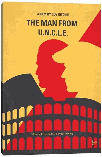 The Man From U.N.C.L.E. Minimal Movie Poster Canvas Print #CKG660