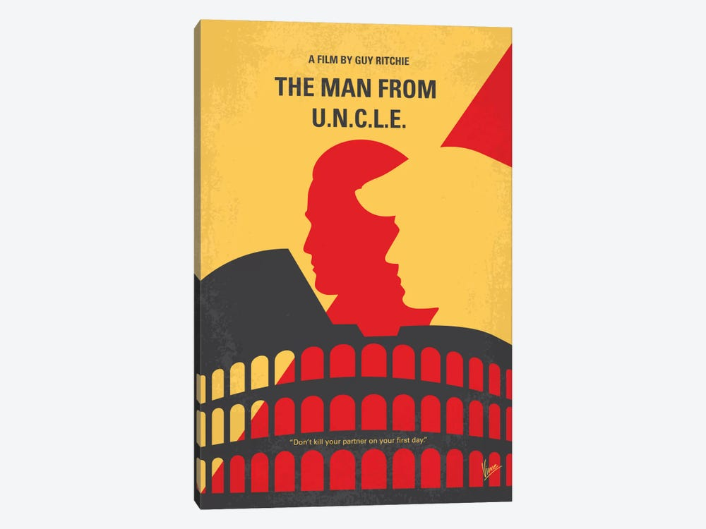 The Man From U.N.C.L.E. Minimal Movie Poster by Chungkong 1-piece Canvas Print