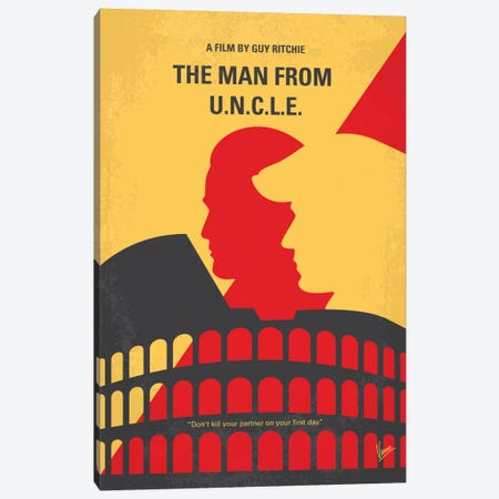 The Man From U.N.C.L.E. Minimal Movie Poster Canvas Print #CKG660} by Chungkong Canvas Art Print