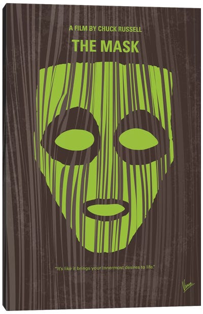 The Mask Minimal Movie Poster Canvas Art Print