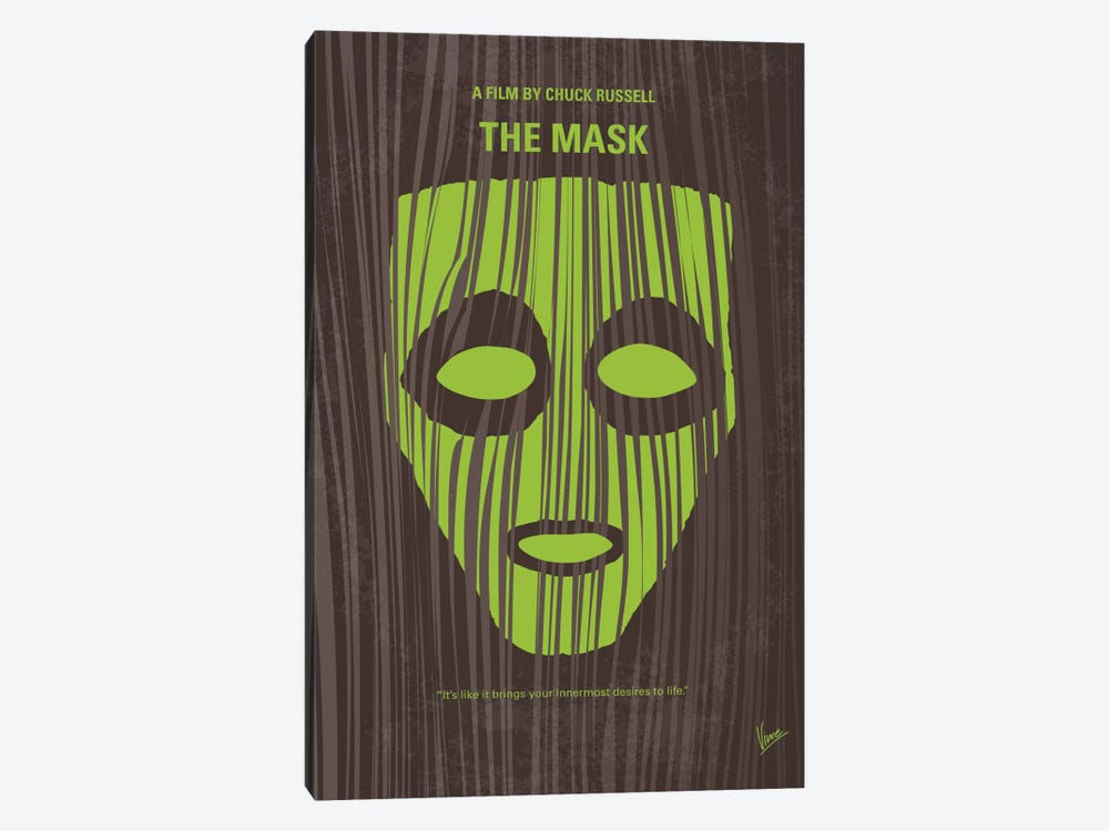 The Mask Minimal Movie Poster by Chungkong 1-piece Canvas Wall Art
