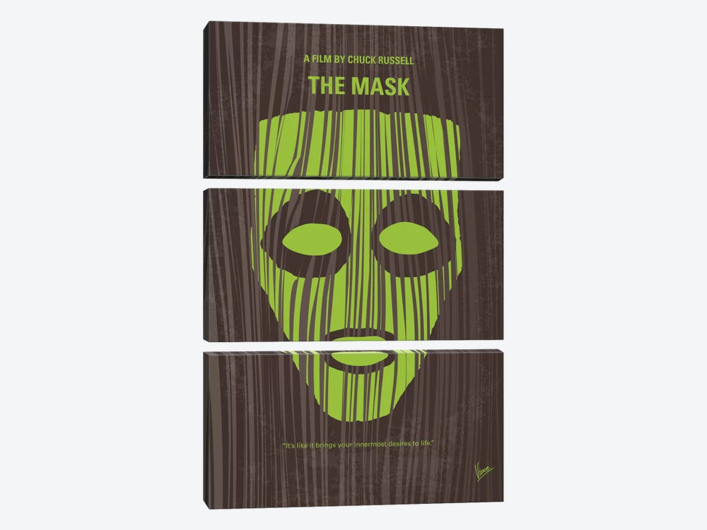 The Mask Minimal Movie Poster 3-piece Canvas Wall Art