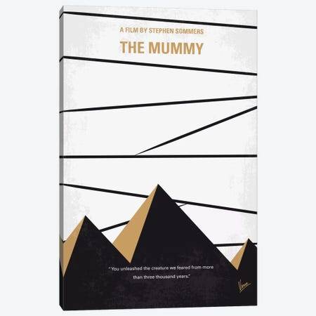 The Mummy Minimal Movie Poster Canvas Print #CKG662} by Chungkong Art Print