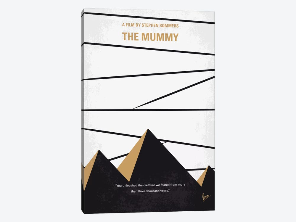 The Mummy Minimal Movie Poster by Chungkong 1-piece Canvas Art Print