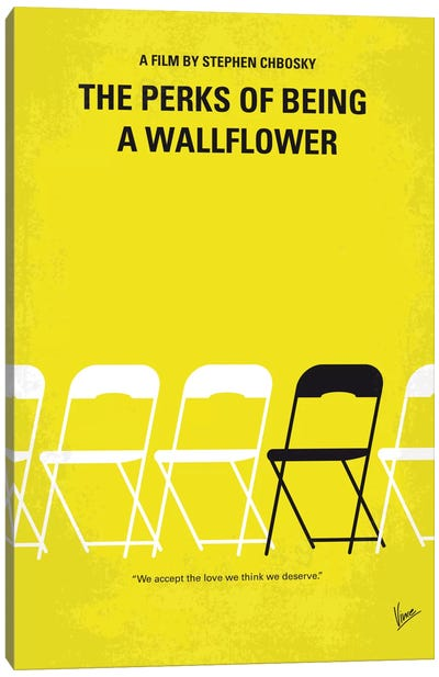 The Perks Of Being A Wallflower Minimal Movie Poster Canvas Art Print