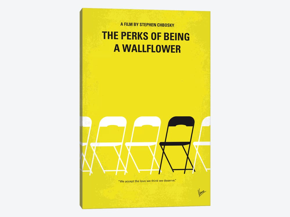 The Perks Of Being A Wallflower Minimal Movie Poster by Chungkong 1-piece Canvas Print